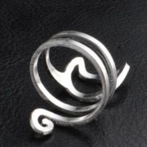 CAT RING Jewelry - Adjustable Cute .925 Silver Plated Cat Wrap Ring